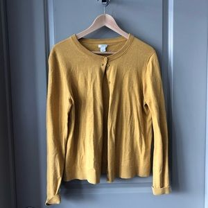 Worn once like new! J. Crew mustard cardigan